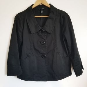 H&M brushed cotton large button jacket